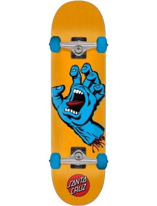 "Santa Cruz Screaming Hand Complete skateboard 7.5"" - Orange/blue"