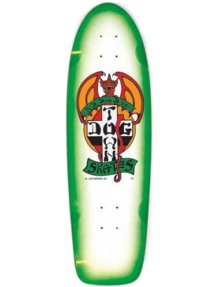 "Dogtown OG Rider Red Dog White 9.0"" - Old School Skateboard Complete"
