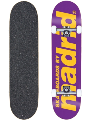 "Madrid Street Classic Logo Purple 8"" - Skateboard Complete"