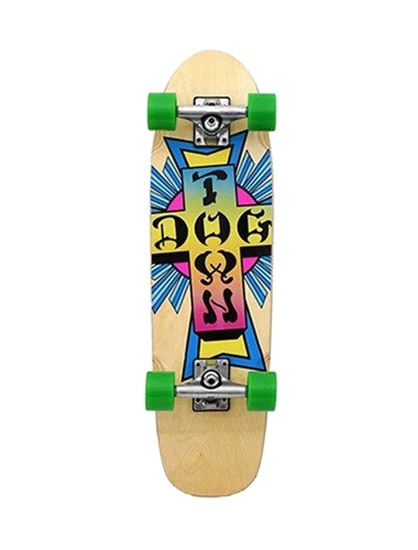 """Dogtown Neon Cross Natural 7.75"""" - Old School Skateboard Complete"""