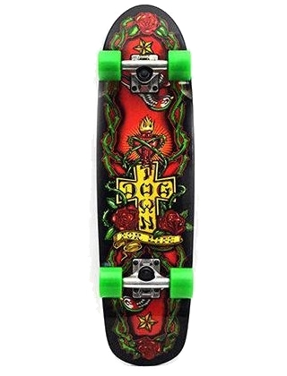 "Dogtown For Life Cruiser Black 7.75"" - Old School Skateboard Complete"