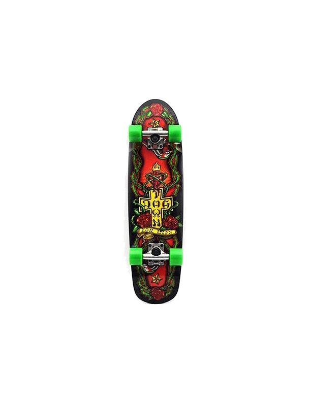 "Dogtown For Life Cruiser Black 7.75"" - Old School Skateboard Complete"