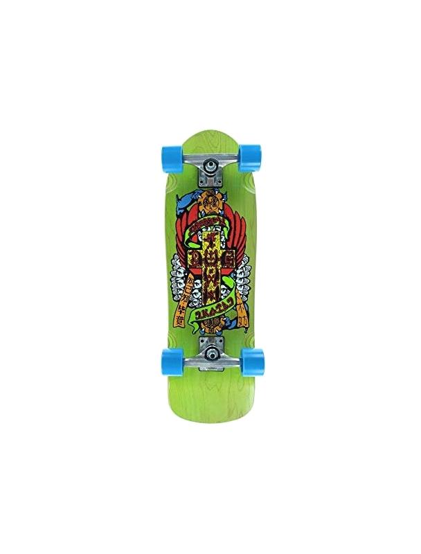 "Dogtown Eric Dressen Mini Cruiser Hands 8.625"" Green - Old School Skateboard Complete"