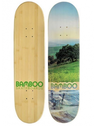 Bamboo deck valley disaster graphic - 8,5 short board