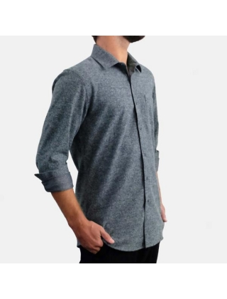 EKZO FLANNEL SHIRT HEATHER SLATE