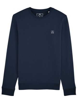 Swell And Barrels Crew Neck Sweat - Navy