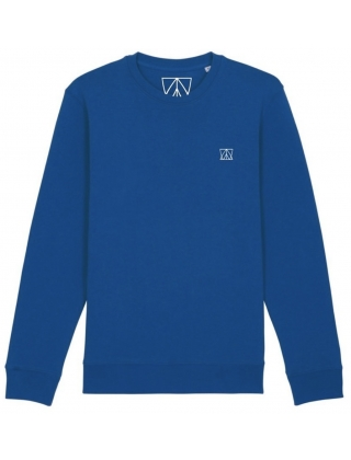 Swell And Barrels Crew Neck Sweat - Electric Blue