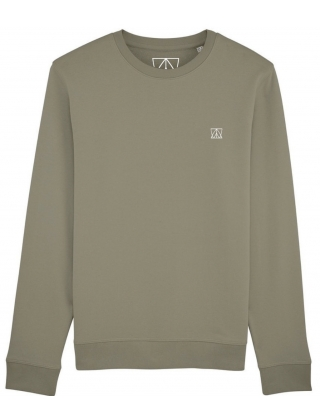 Swell And Barrels Crew Neck Sweat - Khaki