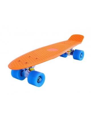"""Surf Rebel 22"""" Orange - Cruiser Skateboard Complete"""