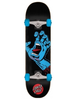 "Santa Cruz Screaming Hand Full Black 8"" Complete Skateboard"
