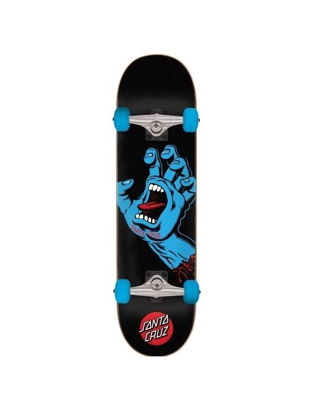 "Santa Cruz Screaming Hand Full Black 8"" Complete Skateboard Cover Photo"