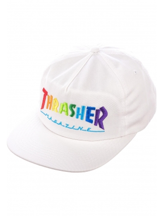 Cap Thrasher Rainbow Mag Snapback - Black Photo 5