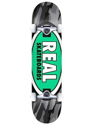 "Real Team Oval Camo XL 8.25"" - Complete board"