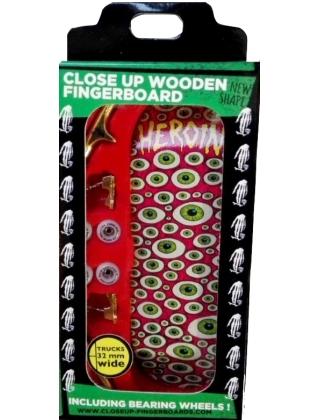 Close Up Finger Skate Heroin Eyes Pink - Complete Setup