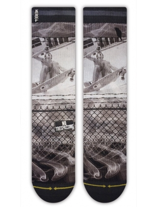 Merge4 Cold One - Gray Classic Crew - Socks
