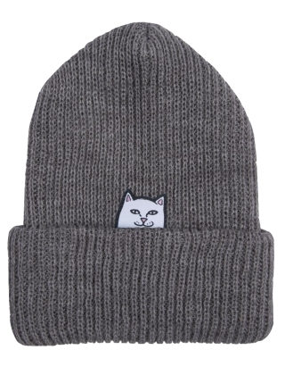 RIPNDIP Lord Nermal Beanie - Heather Grey