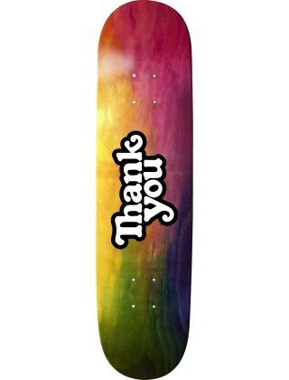 Thank You Tie Dye Woodgrain Logo Deck - Multi
