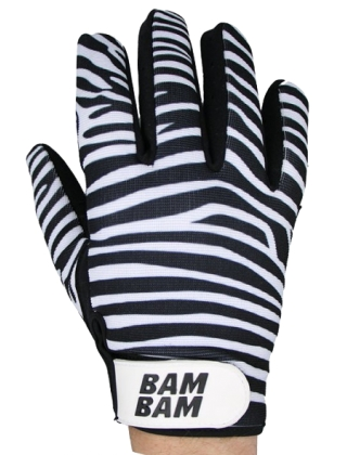 BamBam Fabric Gloves - Zebra