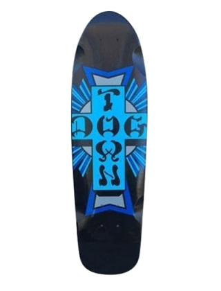 "Dogtown Cruiser Mini Cross Logo Blue 7.625"" - Deck Only"