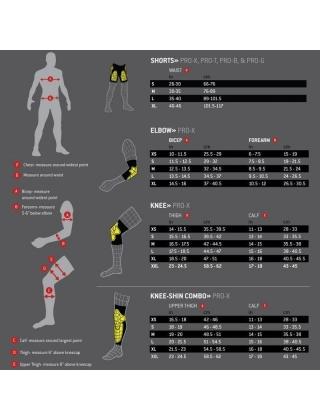 Knee pads skateboard, longboard G-Form Pro-X Knee Pads - Black/Yellow Photo 1