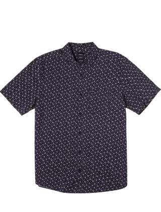 RVCA Bang On S/S Shirt - Moody Blue