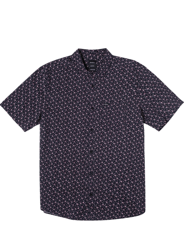 Chemise RVCA Bang On S/S Shirt - Moody Blue Cover Photo