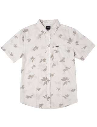 RVCA Endless Seersucker P S/S Shirt - Antique White