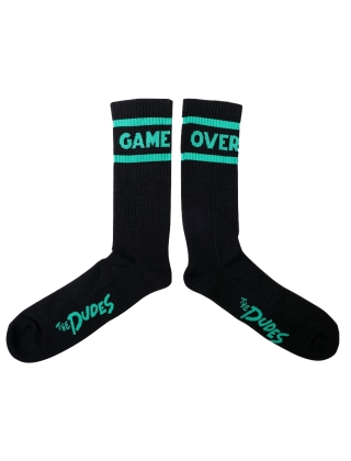 Dudes Game Over - Black Socks