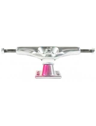 Skateboard trucks Tensor Trucks Alum Stencil Mirror Raw/Crimson Fade - Multi Photo 1