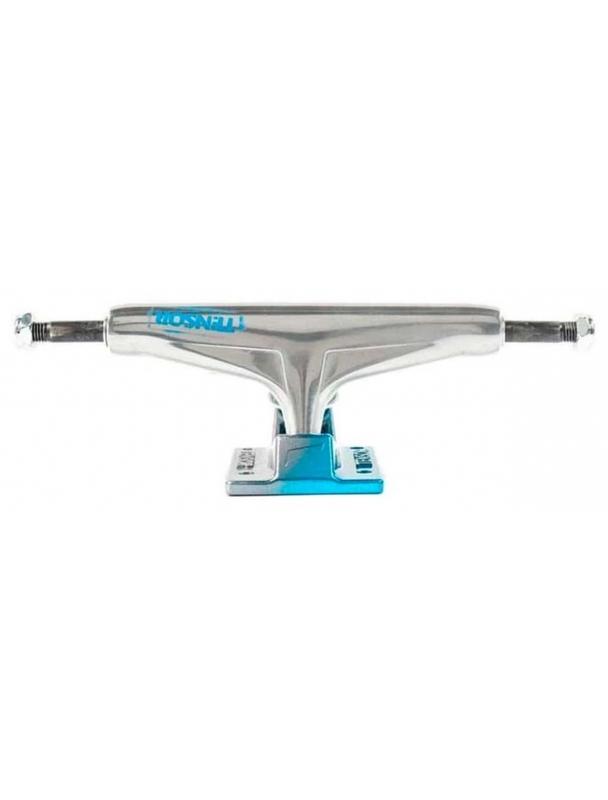 Skateboard trucks Tensor Alum Stencil Mirror Raw/light Blue - Multi Cover Photo