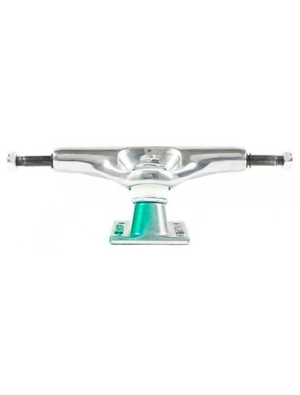 Skateboard trucks Tensor Truck Alum Stencil Mirror Raw/Green Fade - Multi Cover Photo