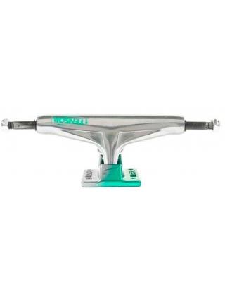 Skateboard trucks Tensor Truck Alum Stencil Mirror Raw/Green Fade - Multi Photo 2
