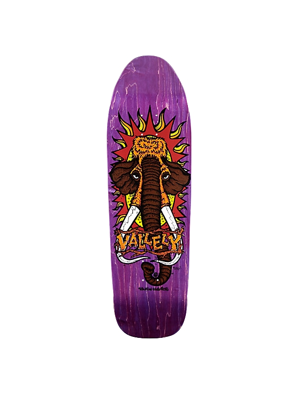 Skateboard deck New Deal Heritage Deck Vallely Mammoth 9.5'' Purple - Old School Deck Cover Photo