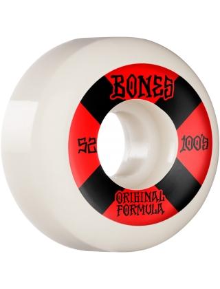 Bones 100's 52mm V5 Sidecut - White