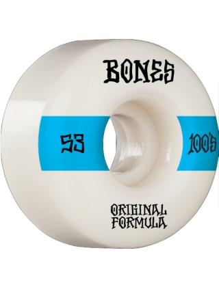 Bones 100's 53mm V4 wide - White