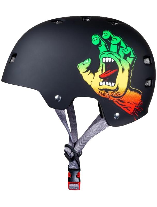 Helm skateboard, longboard Santa Cruz x Bullet Helmet Screaming Hand - Rasta Cover Photo