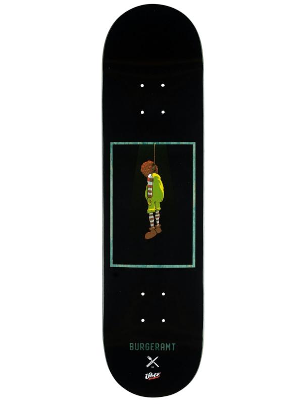 Skateboard deck Inpeddo Über x Burgeramt 8.375'' Grey - Deck Cover Photo