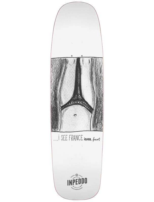 Skateboard deck Inpeddo X Forvert I SEE FRANCE 8.75'' - Deck Cover Photo