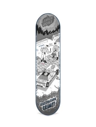 Skateboard deck Inpeddo It's a Crime 8.125 '' - Deck Photo 1