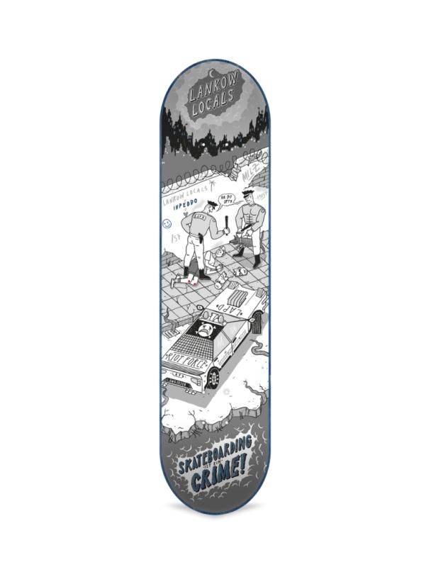 Skateboard deck Inpeddo It's a Crime 8.125 '' - Deck Cover Photo