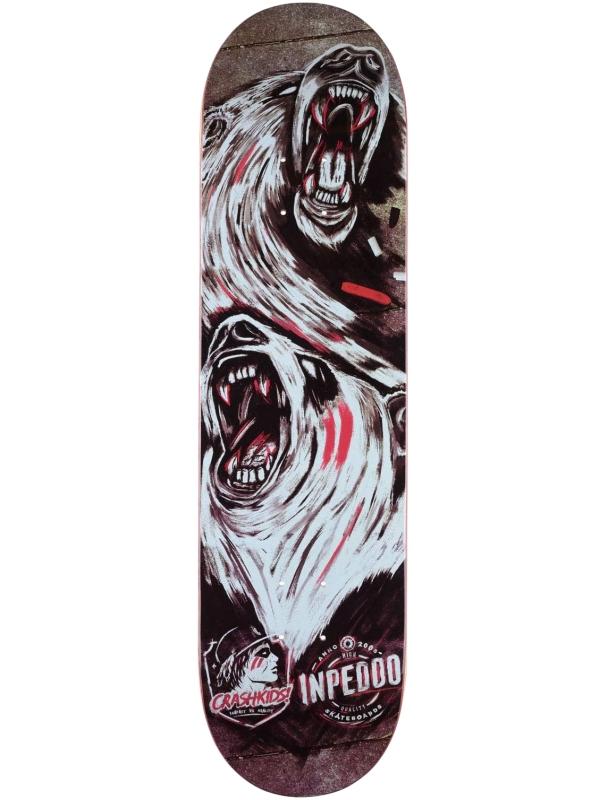 Skateboard deck Inpeddo x CrashKids - Multi - Deck Cover Photo