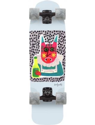"Landyachtz Dinghy Shape 9 Chartreuse 28.5"" Cruiser Skateboard Complete."