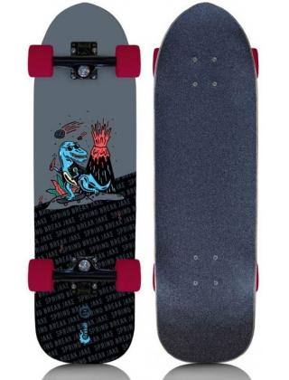 "Fireball Limited Edition Spring Break Jake Artist Series 29.5"" Cruiser Skateboard Complete - Red."