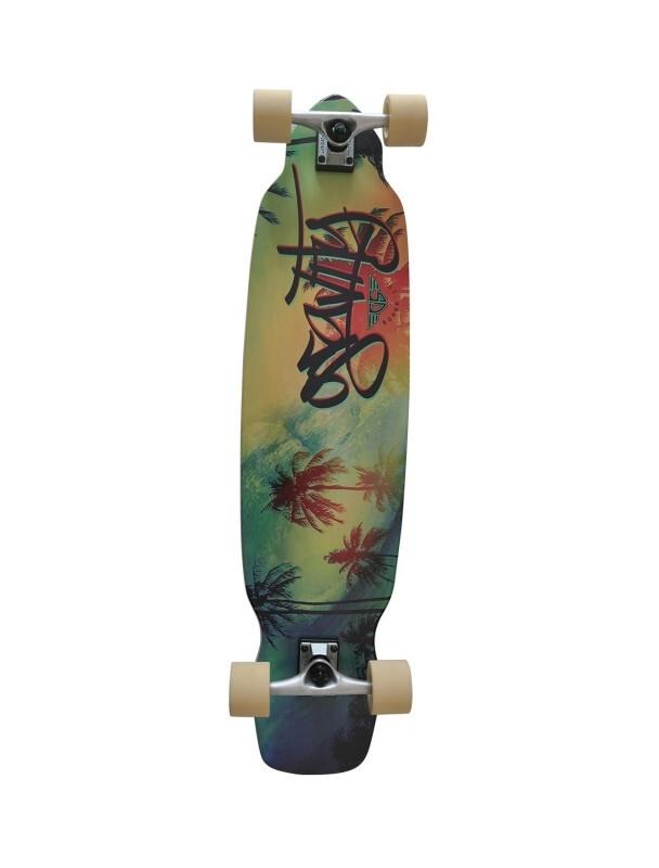 "Longboard Gravity Wavy 39"" Longboard Complete. Cover Photo"