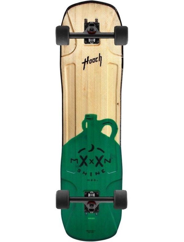 Longboard Moonshine Hooch Green Longboard Complete. Cover Photo