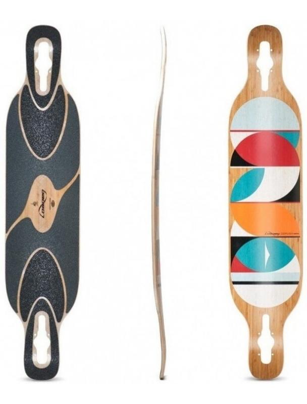 "Longboard Loaded Dervish Sama ""Circles"" Paris V3 Longboard Complete. Cover Photo"