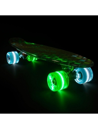 Longboard Sunset Diamonds - Cruiser Skateboard Led Light Complete. Photo 1