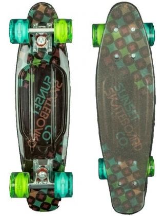Sunset Diamonds - Cruiser Skateboard Led Light Complete.