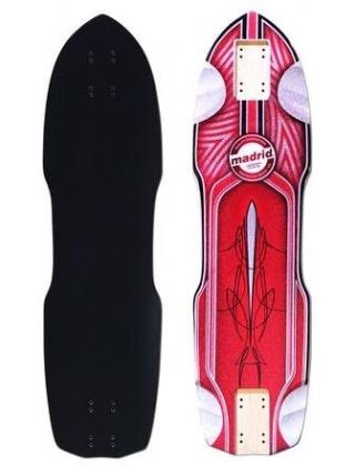 Madrid Pro Series Leadfoot Zak Maytum Red Longboard Deck.
