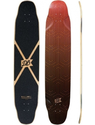 DB Longboards Dance Floor 47 Flex 2 Red Longboard Deck.